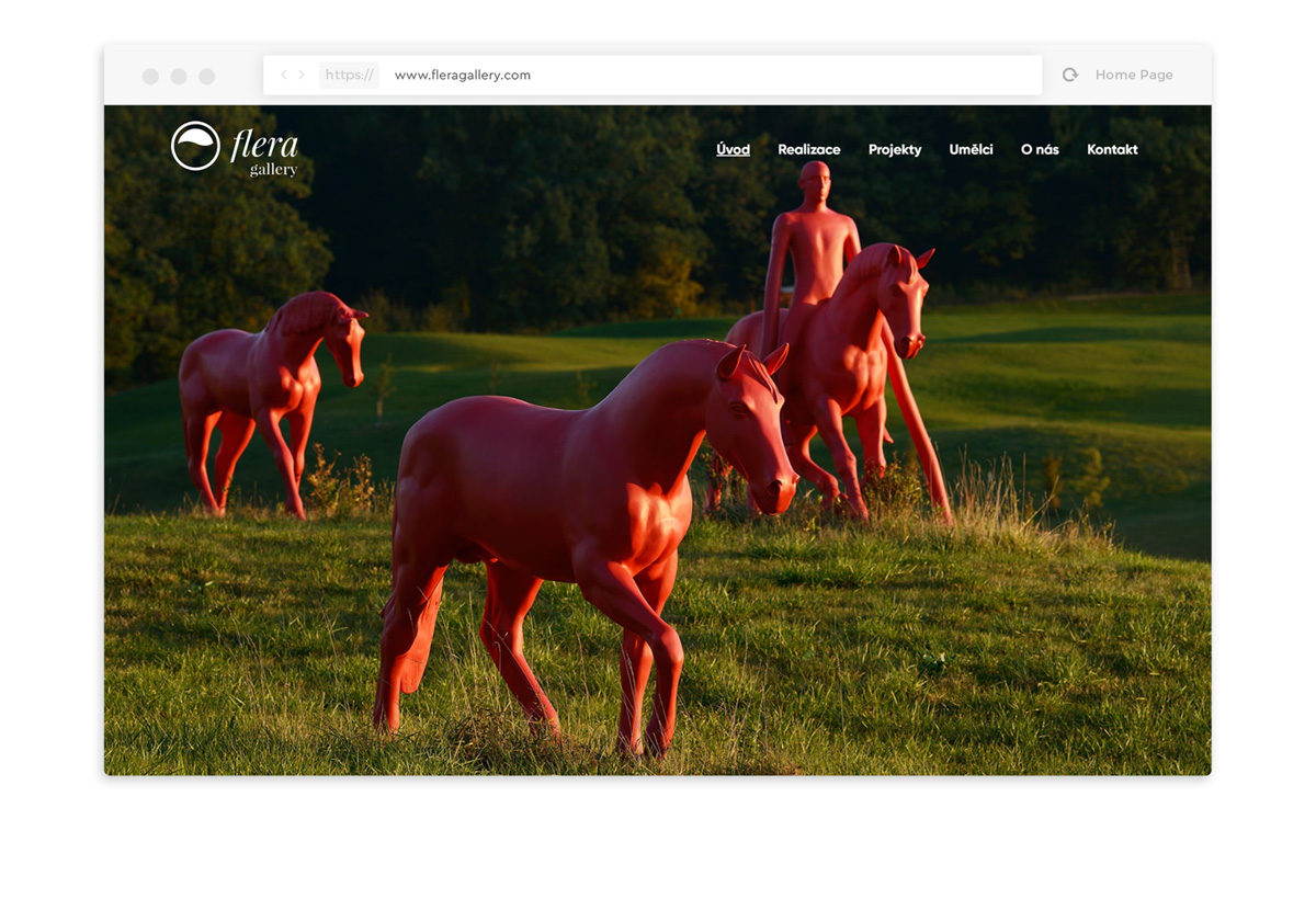 Flera Gallery webdesign