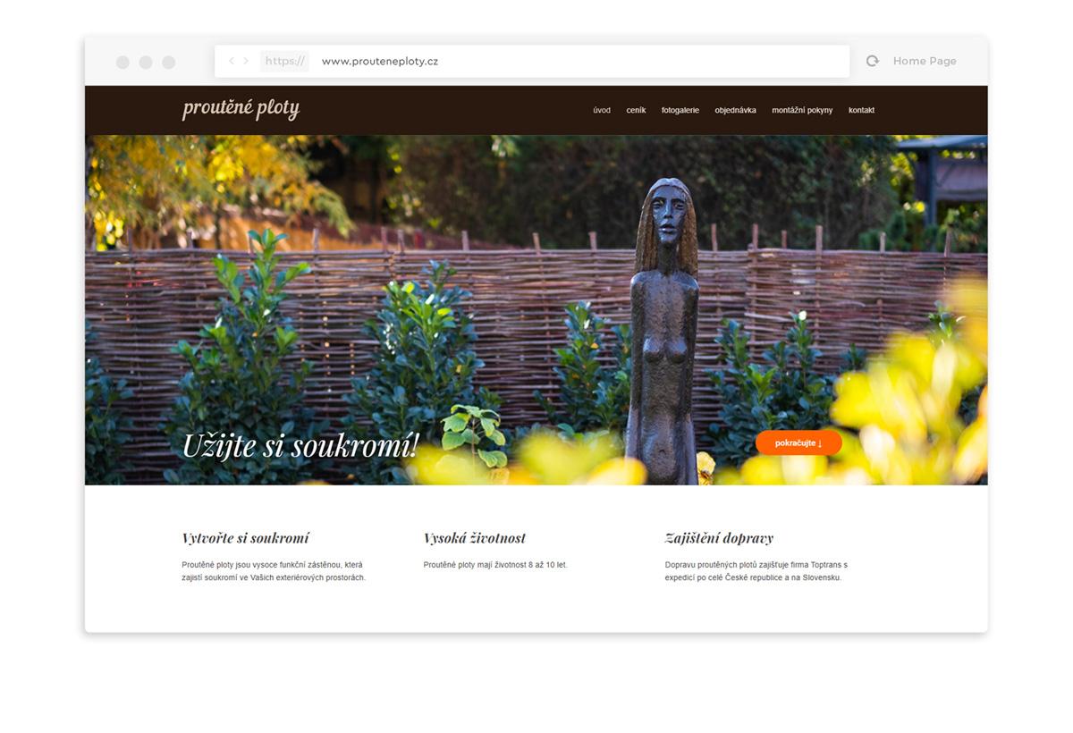 Proutěné ploty webdesign